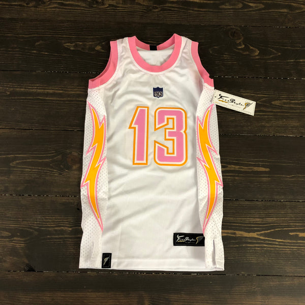 Freestyle Basketball Jersey X LAC White Pink #13