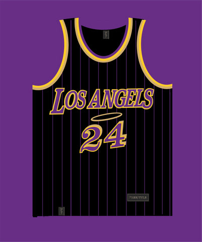 Los Angels in Black Purple Gold MAMBA #24