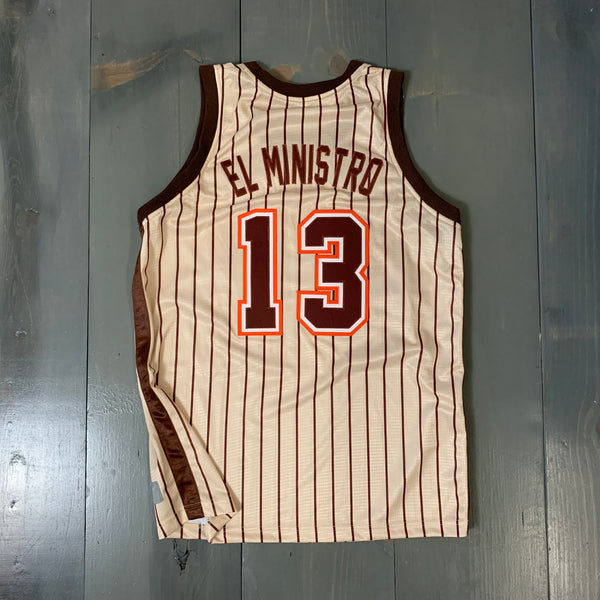 Freestyle Basketball Jersey X Friars X 88 Creme Brown Pinstripes II #13 EL MINISTRO