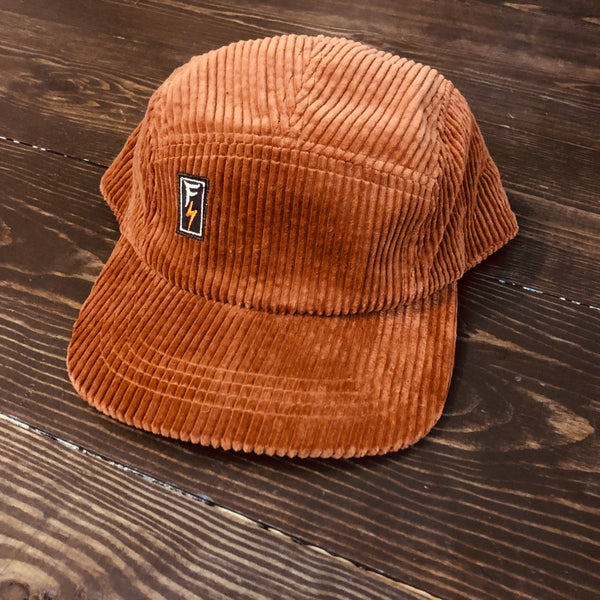 Freestyle Cut & Stitch Corduroy 5 Panel Hat X Friars Orange