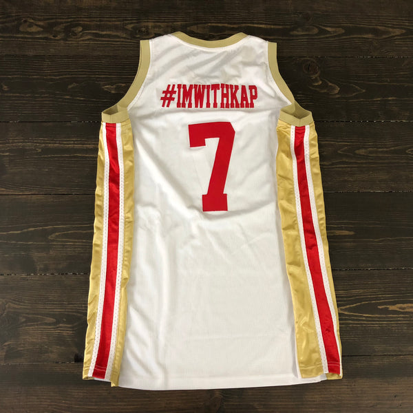 Freestyle Cut & Stitch Basketball X SF White Red #IMWITHKAP