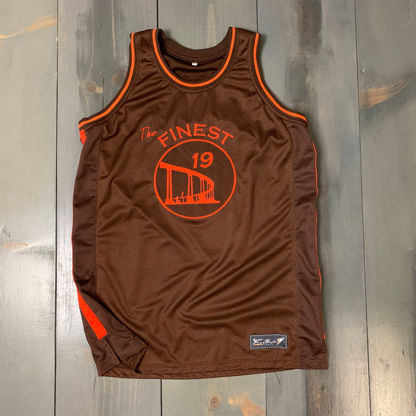 Freestyle Basketball Jersey X Finest Coronado Bridge Brown Orange #19