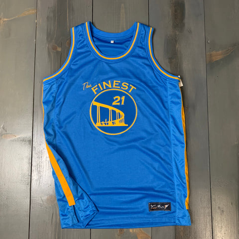 Freestyle Basketball Jersey X Finest Coronado Bridge Powder #21 SAN DIEGO
