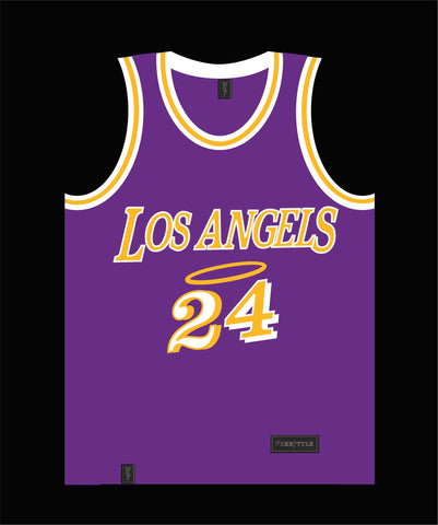 Los Angels in Purple Gold Two Four BRYANT