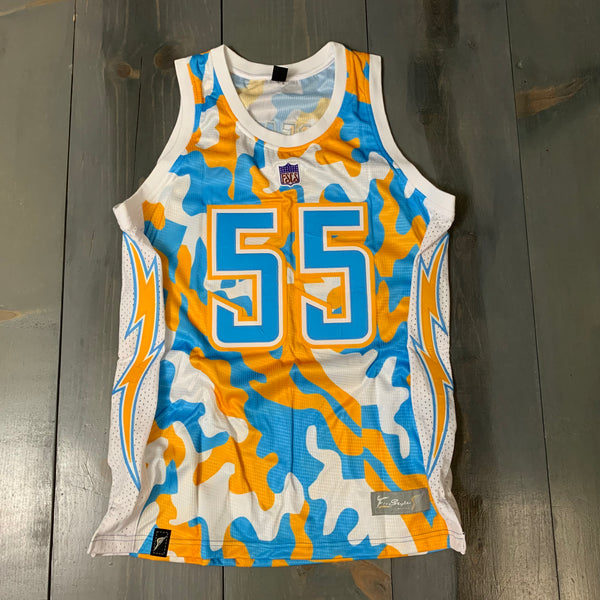 Freestyle Basketball Jersey X LAC Camo Yellow Powder
