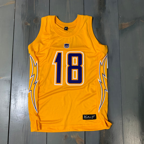 Freestyle Basketball Jersey X LAC Yellow Royal #18