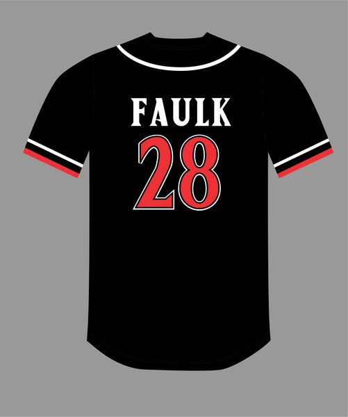 PRE ORDER SALE San Diego Baseball Jersey in Black Red #28 FAULK