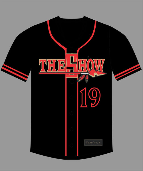 PRE ORDER SALE The Show Baseball Jersey in Black #19 TONY G