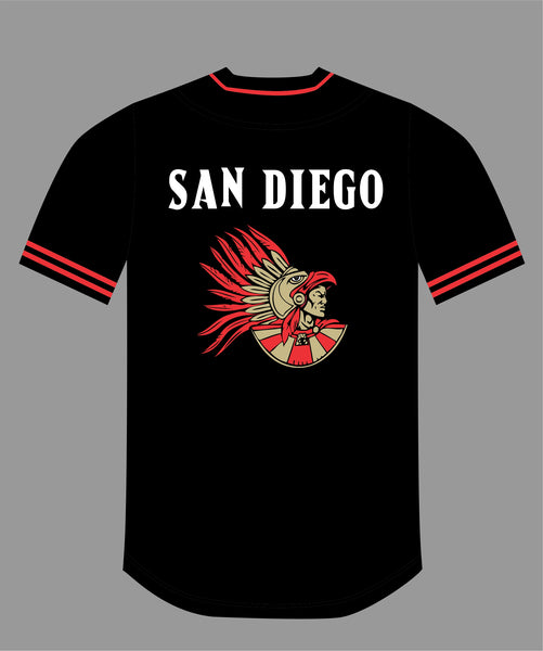 PRE ORDER SALE The Show Baseball Jersey in Black #19 SAN DIEGO
