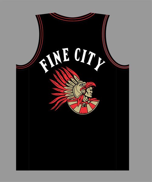 The Show Basketball Jersey in Black #19 FINE CITY