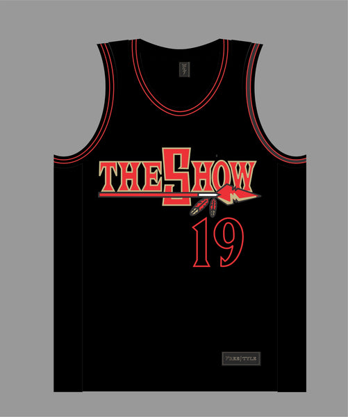 The Show Basketball Jersey in Black #19 SAN DIEGO