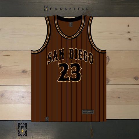 FS X Friars Brown Black Pinstripes Gold #23
