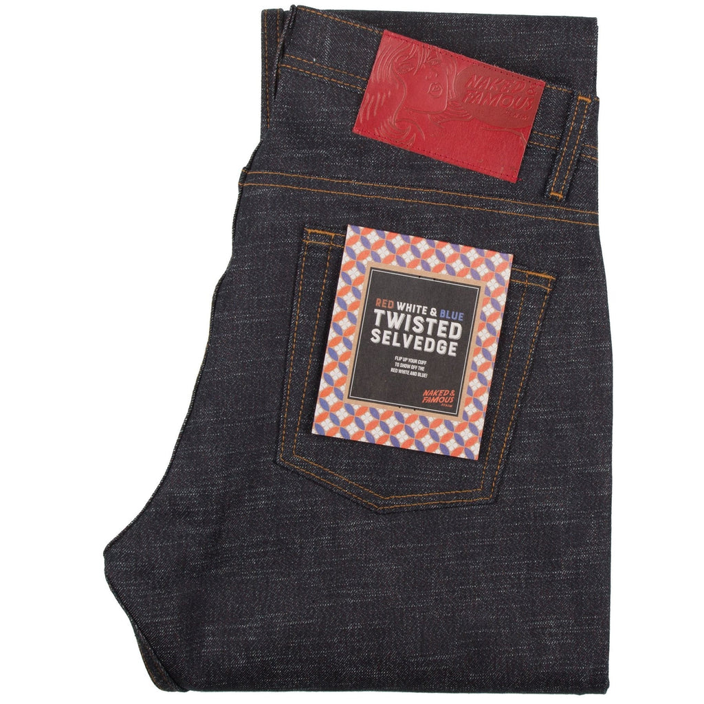 N&F Super Skinny Guy - Red White & Blue Twisted Weft Selvedge