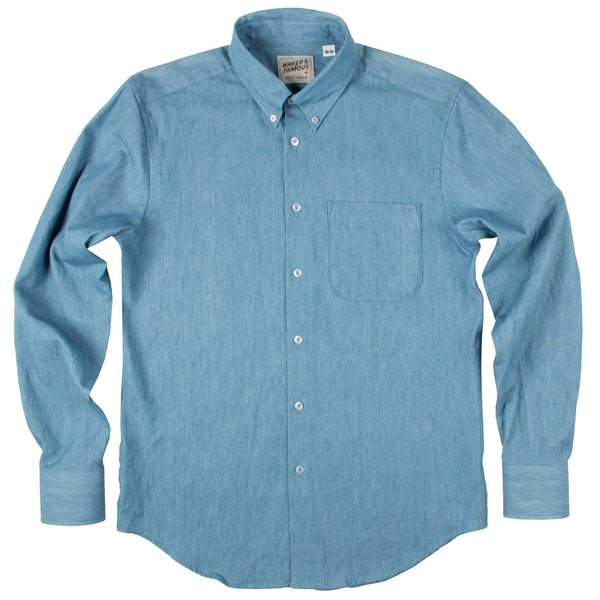 N&F Regular Shirt - Lightweight Faded Denim