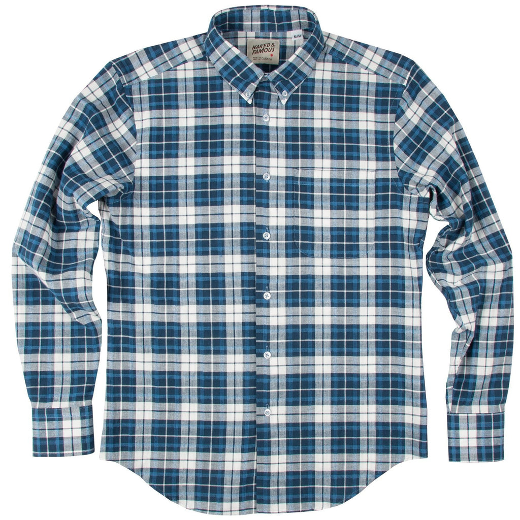 N&F Regular Shirt- Raised Dobby Plaid