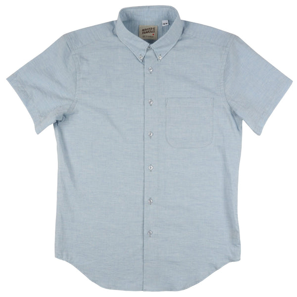 N&F Short Sleeve- Organic Yarn Blue