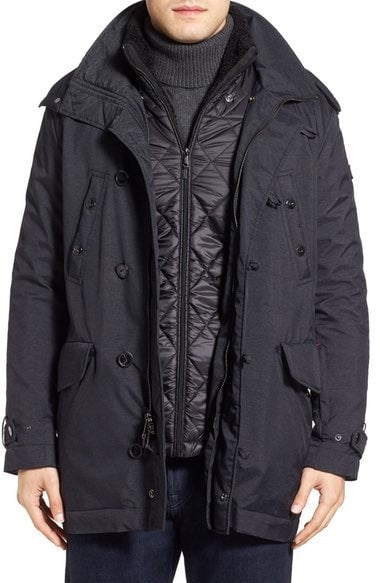 TUMI 3-in-1 Travel Parka with Faux Fur Trim