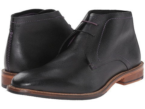 Ted Baker Torsdi Leather Ankle Boots- Black Leather