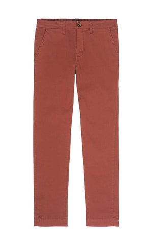 Light Red Bowie Fit Stretch Cotton Chino – JACHS NY