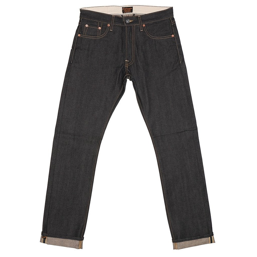CIVILIANAIRE GOLD SELVAGE DENIM STANDARD SLIM - INDIGO