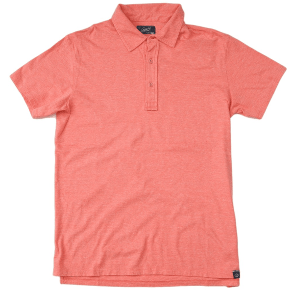 Slub Jersey Polo- Nantucket Red