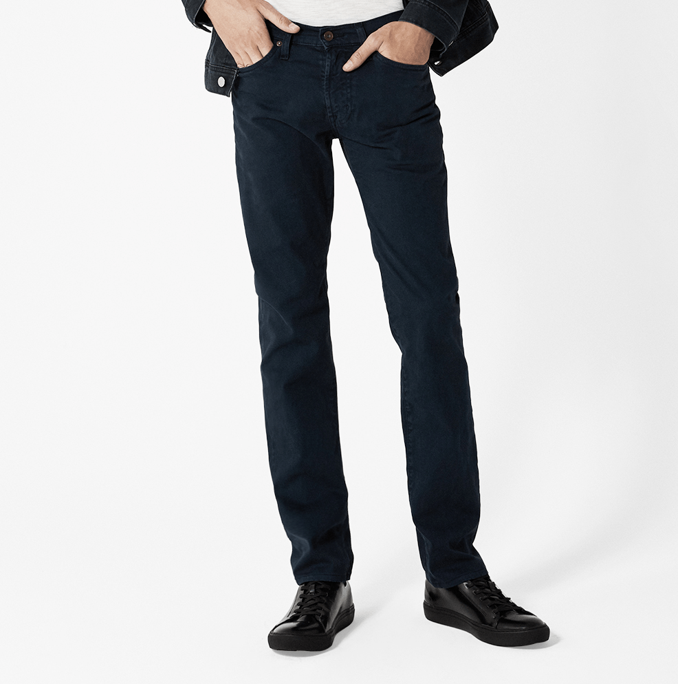 Division Modern Straight- Distressed Navy