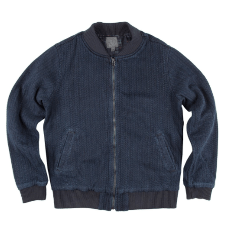 Naked & Famous Denim Bomber Jacket Indigo Dobby Denim