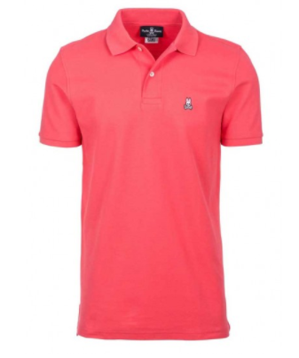 Psycho Bunny Men's Classic Polo- Punch
