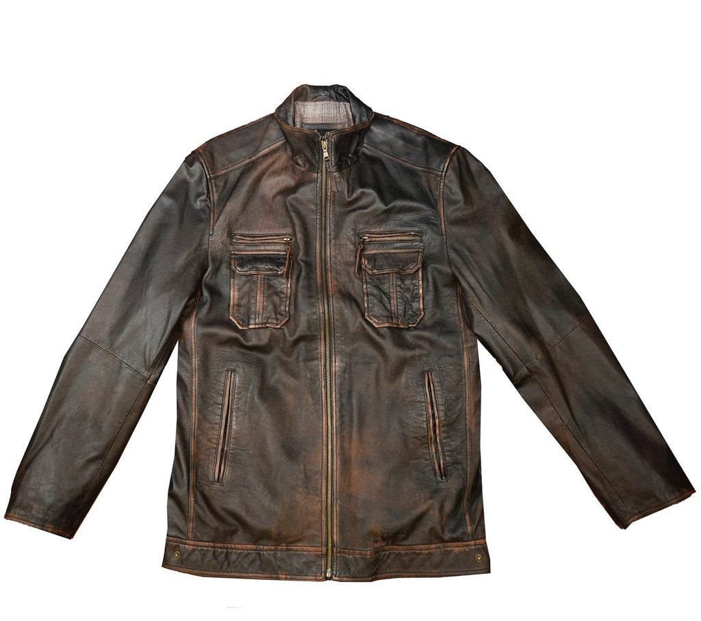 Coats - SCULLY LEATHER DIESEL WASHED LAMBSKIN COAT