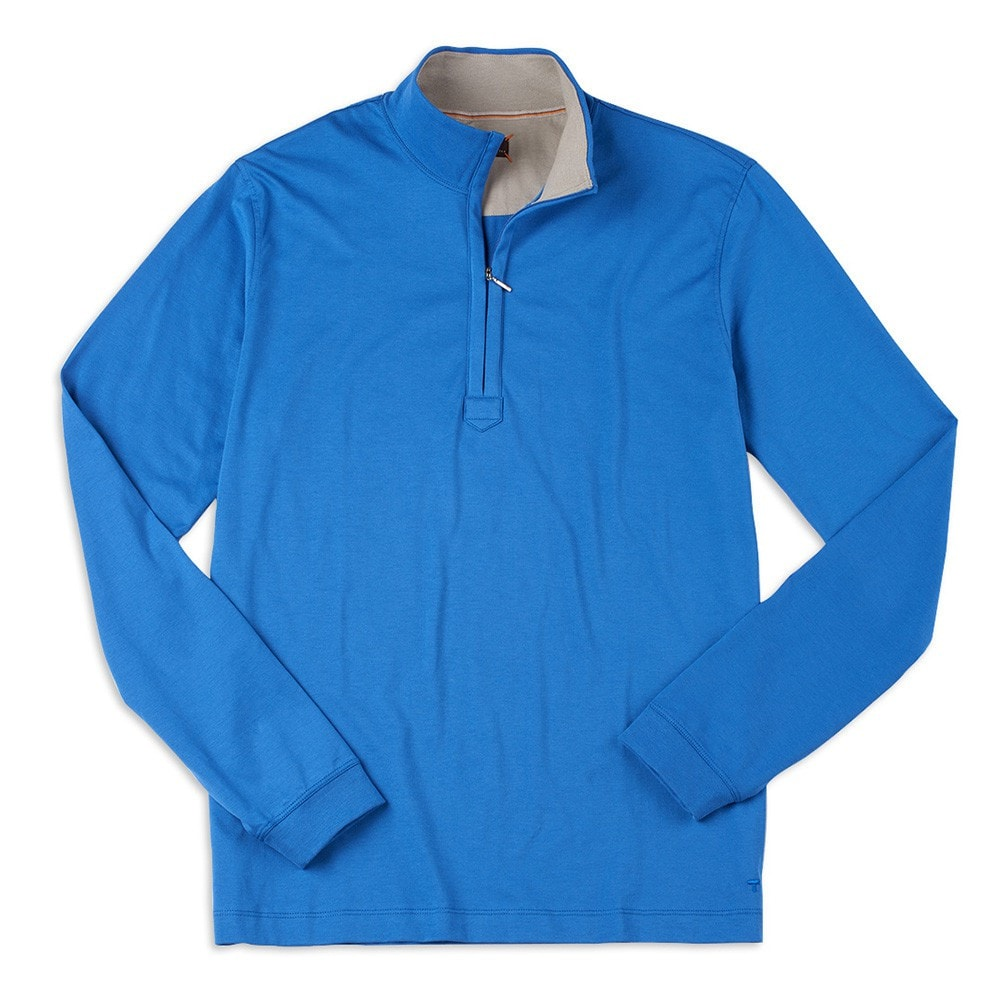 CLASSIC FIT LONG SLEEVE ZIP MOCK-