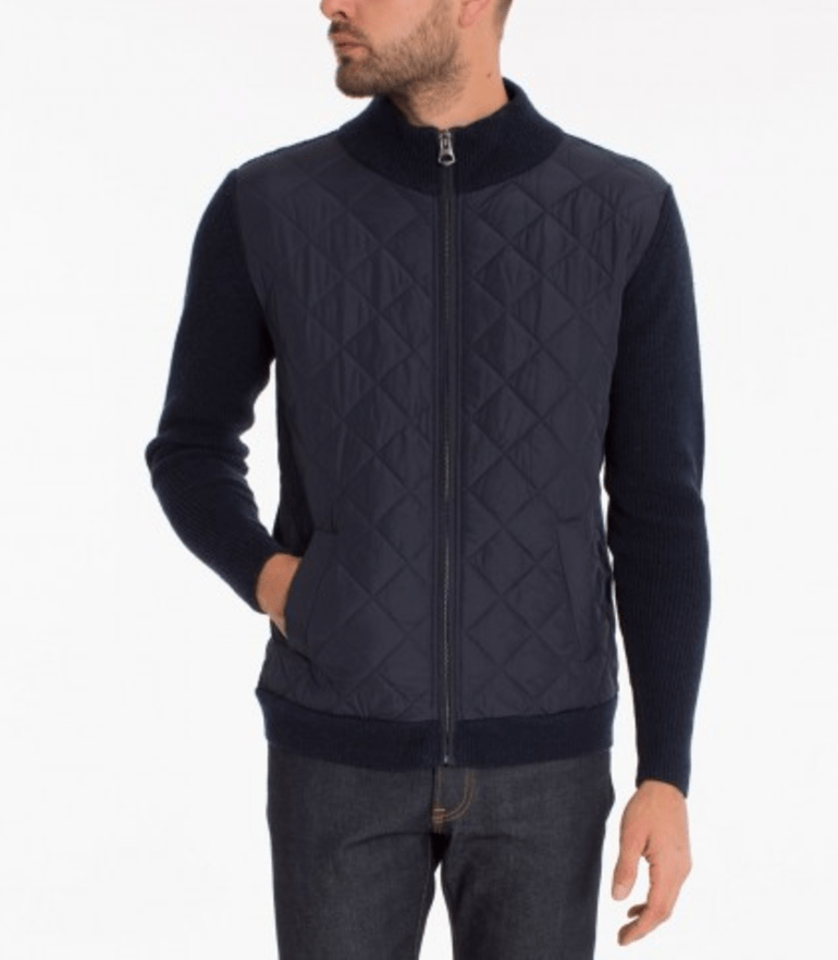 Outerwear - 7 DIAMONDS TURTLENECK ZIP- NAVY