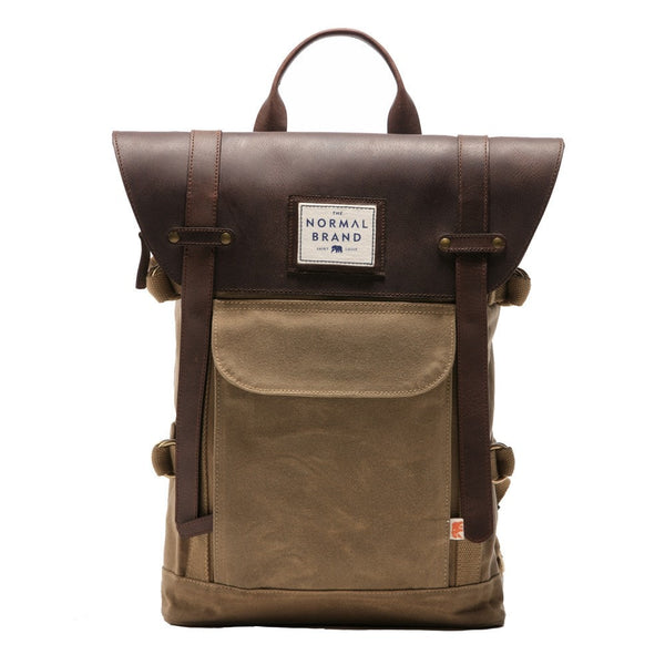 Normal Brand The Top Side Leather Backpack - Tan
