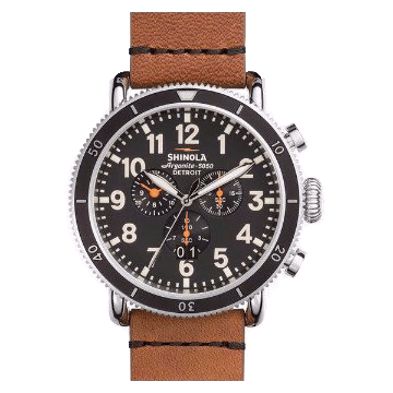 SHINOLA RUNWELL SPORT CHRONO 48MM, TAN STRAP