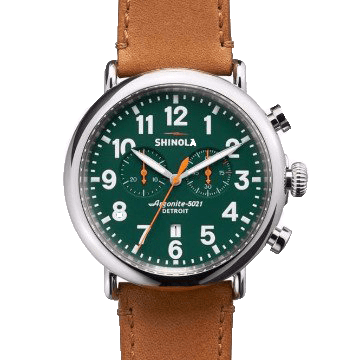 SHINOLA THE RUNWELL GREEN DIAL 47MM