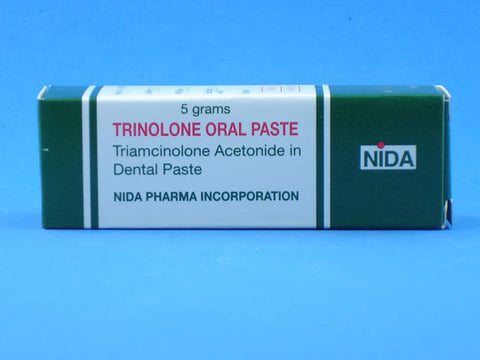 Triamcinolone acetonide 1.0 mg  Dental Paste Trinolone