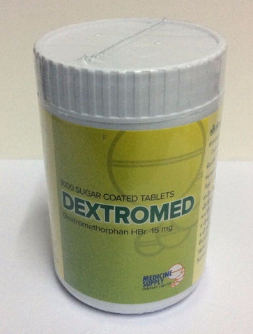 Dextromethorphan Hbr 15mg 1000 tablets Dextromed