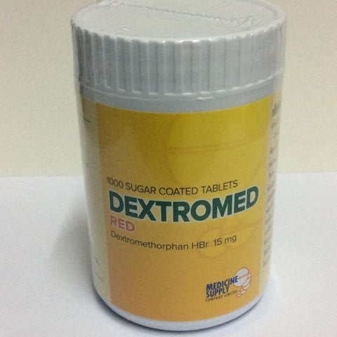 Dextromethorphan Hbr 15mg 1000 tablets Dextromed Red