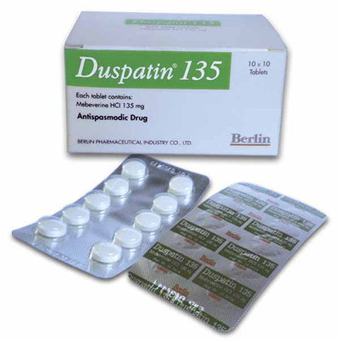 Mebeverine Hcl 135 mg Duspatin Duspatalin