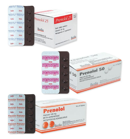 Atenolol 100 mg 100 tablets Prenolol beta blocker