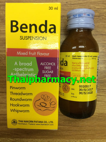 Mebendazole 100 mg / 5 ml Benda Suspension