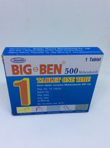 Mebendazole 500 mg Big Ben 500
