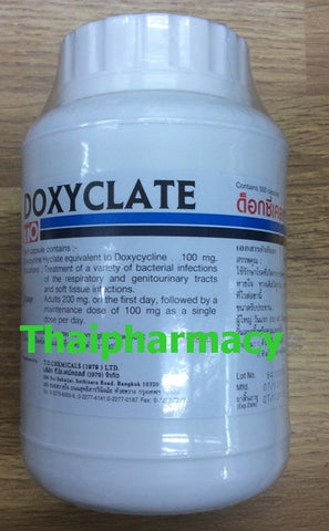 Doxycycline 100 mg 500 capsules Doxyclate