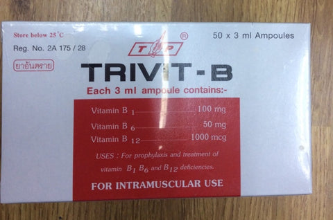 Vitamin B1 B6 B12 injection Trivit-B