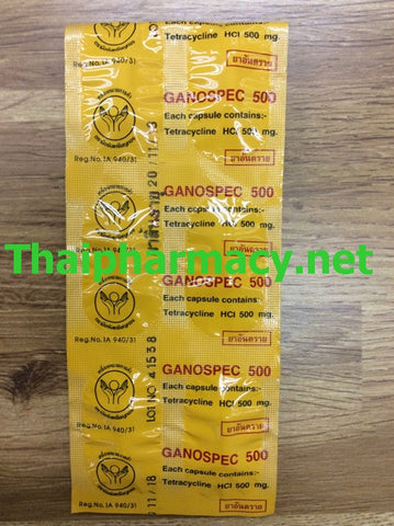 Tetracycline 500 mg Ganospec