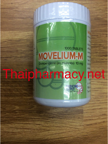 Domperidone 10 mg 1000 Tablets Movelium-M