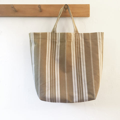 French Ticking Tote