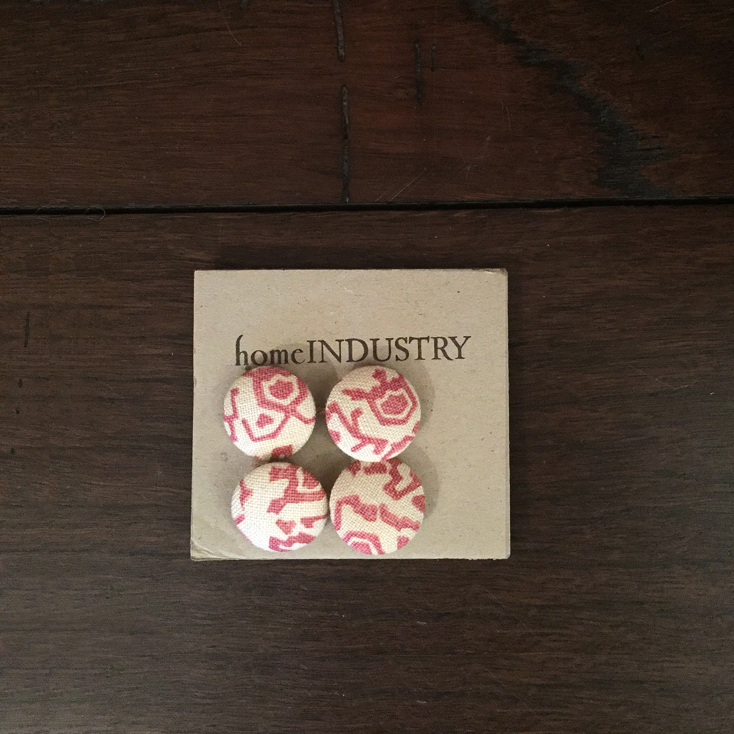 Fabric Buttons - Rose Pink