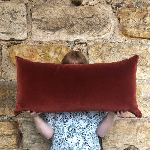 Cushions Burnt Umber Velvet