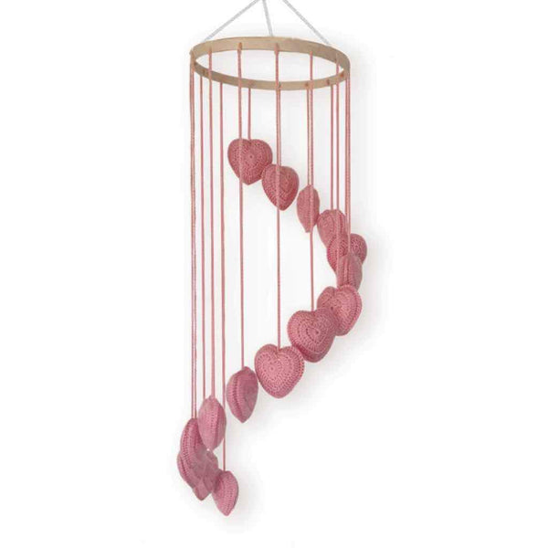 Pink Heart Mobile Decor Range O.B. Designs