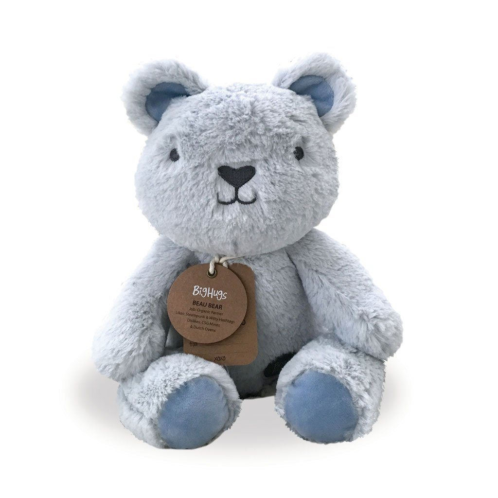 Beau Bear (Blue) Huggie - O.B. Designs